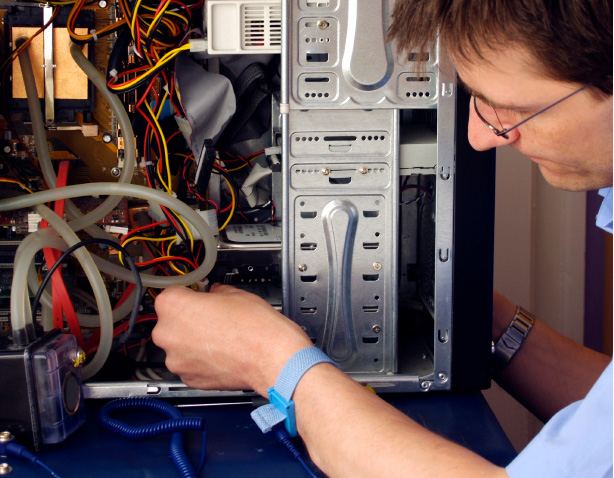 Man Working On Networking